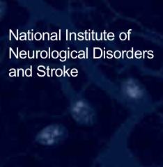 National Institute of Neurological Disorders and Stroke agency name on top of blue cell background